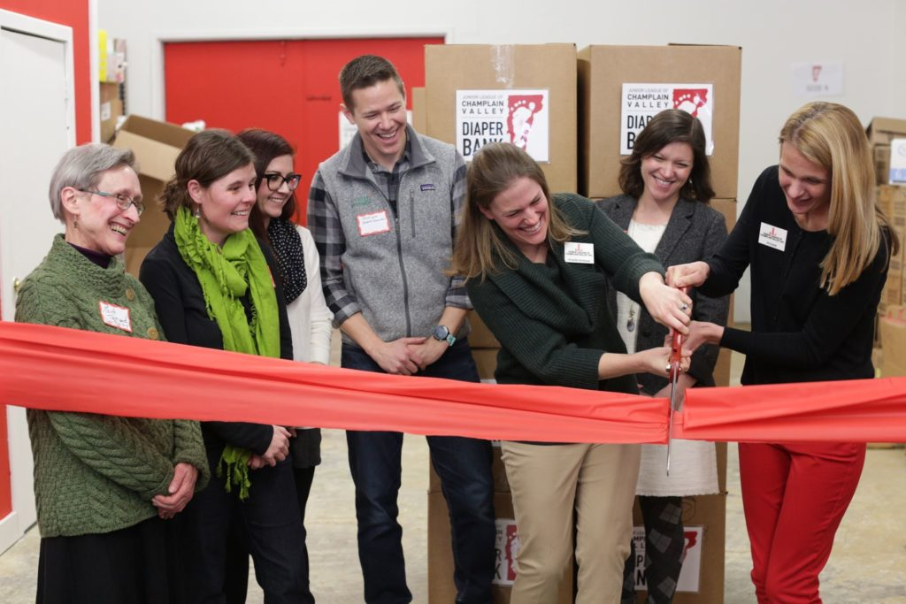 March 7, 2019 ribbon-cutting ceremony for the JLCV Diaper Bank